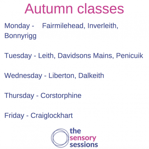 timetable for sensory play classes