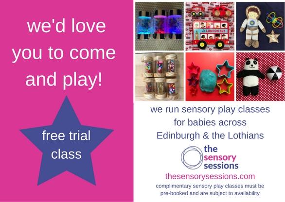 free baby class voucher 2018 Edinburgh baby development classes