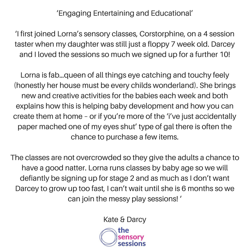 testimonial for sensory play Edinburgh
