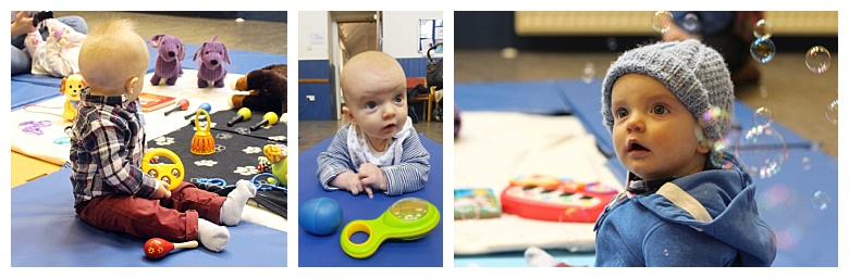 Owain at sensory sessions baby classes